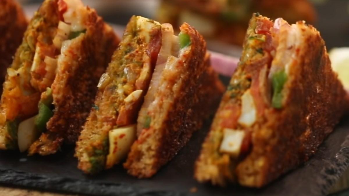 Sandwich trứng cà ri Ấn Độ