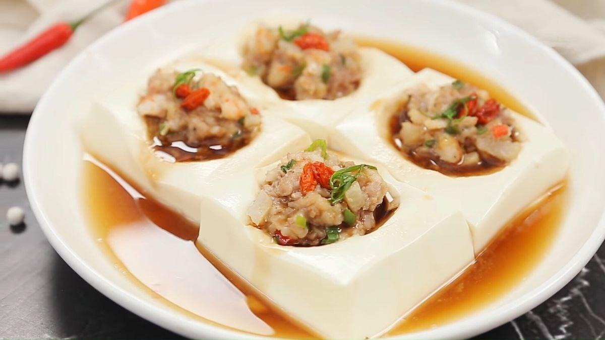 2 Cách làm đậu hũ non hấp tôm thịt mềm béo ăn ngon dễ làm