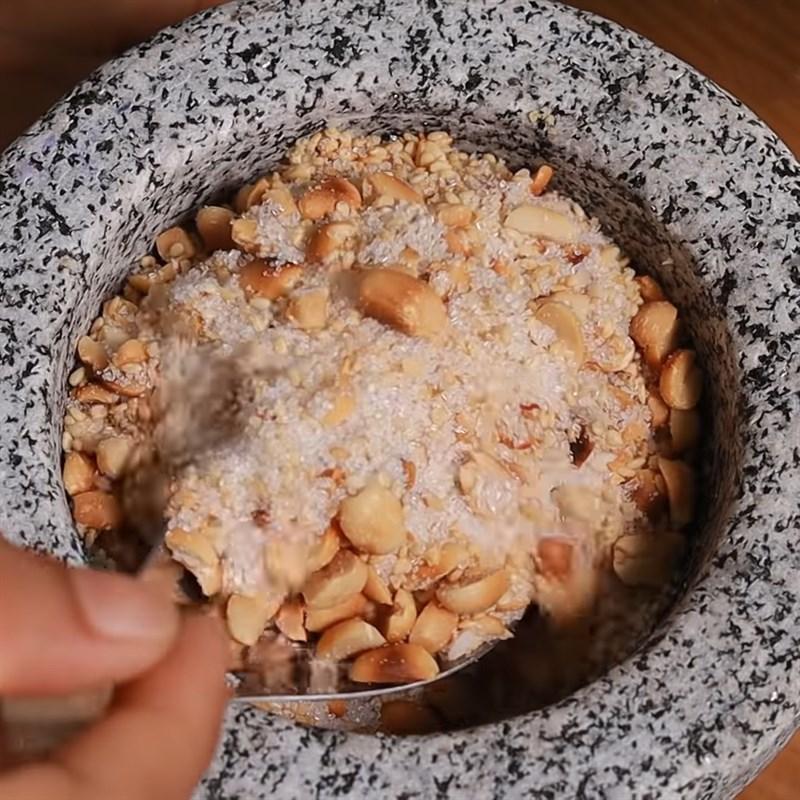Bước 3 Làm đậu muối mè Xôi lá dứa