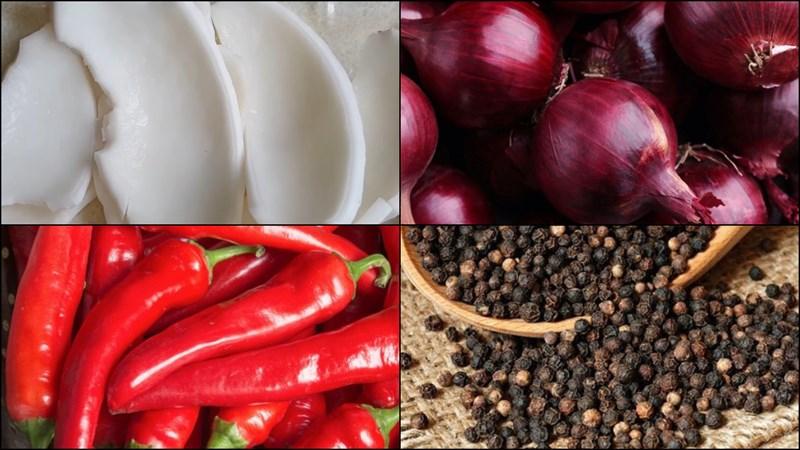 2 cách làm cơm dừa kho chay với tiêu và nước tương béo thơm đậm đà