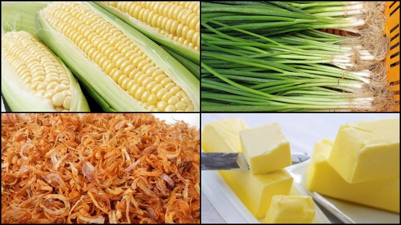 Nguyên liệu món ăn bắp xào bơ