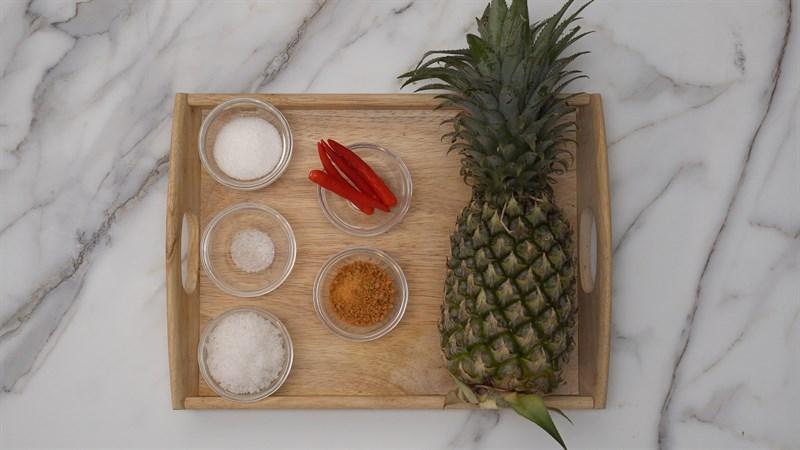 Nguyên liệu món ăn thơm sấy muối ớt bằng máy sấy trái cây