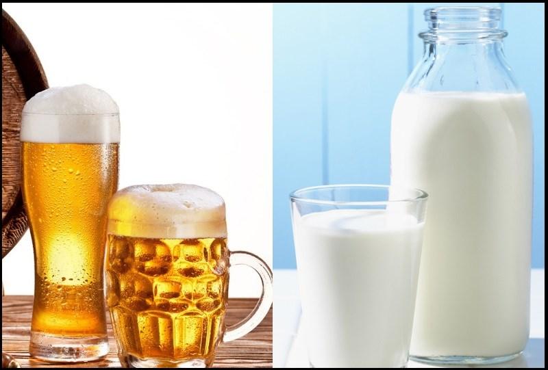 Rửa mặt bằng bia và sữa tươi