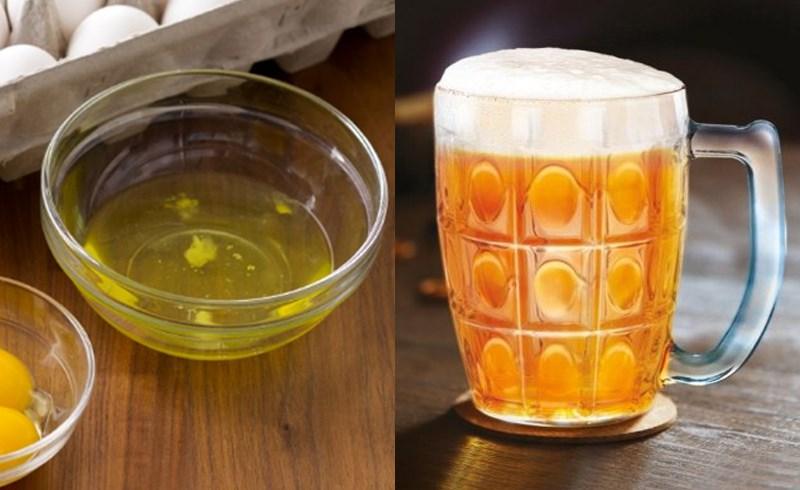 Rửa mặt bằng bia và trứng gà