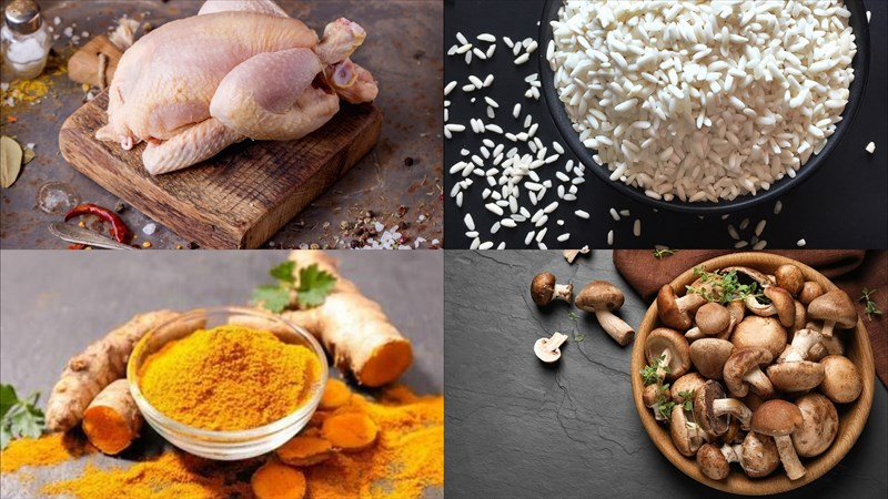 Nguyên liệu món ăn gà bó xôi nguyên con