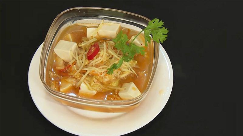 Canh kim chi chay