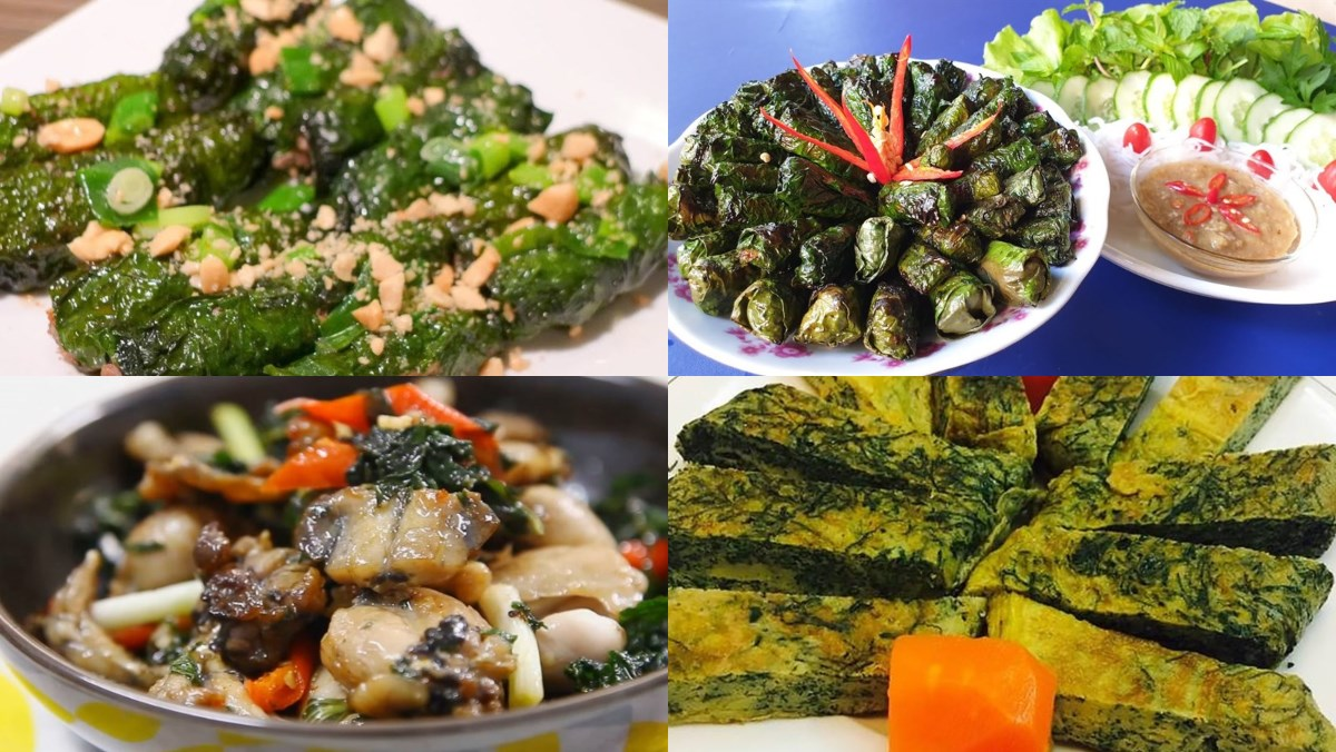 10 món ăn ngon từ lá lốt