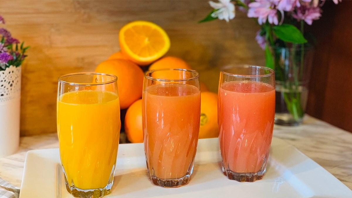 Nước ép cam bưởi bằng máy vắt cam
