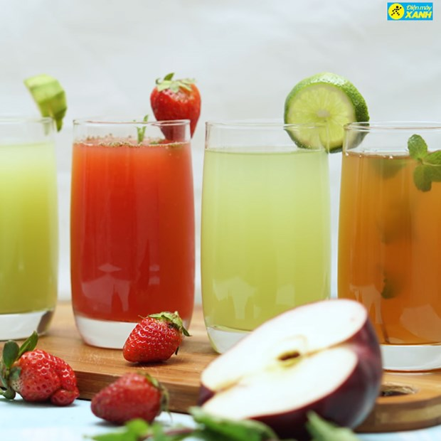 4 món nước ép trái cây