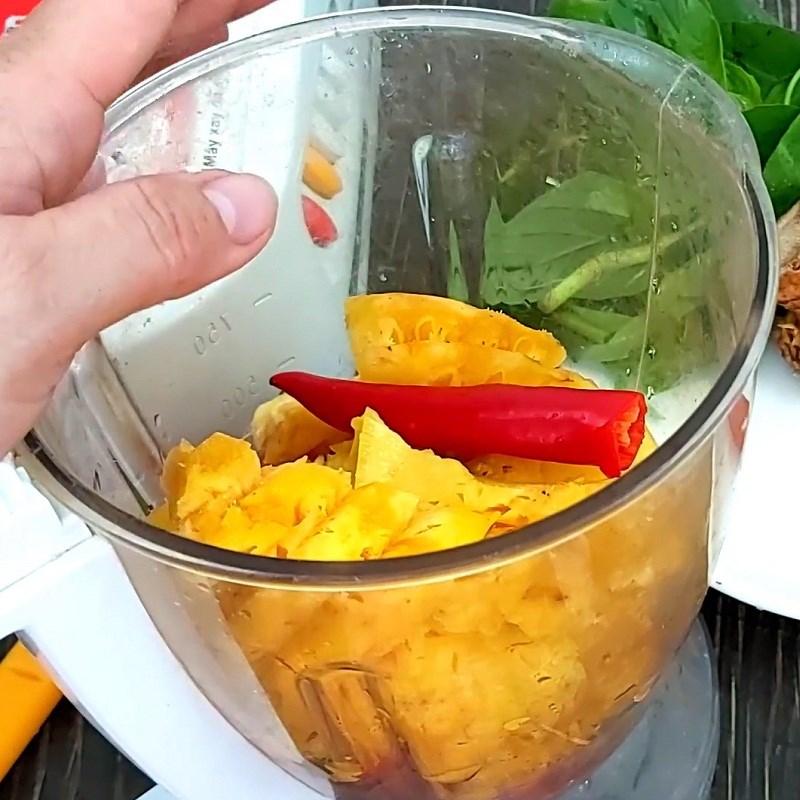 Bước 2 Sơ chế các nguyên liệu khác Lẩu cá tầm chua cay