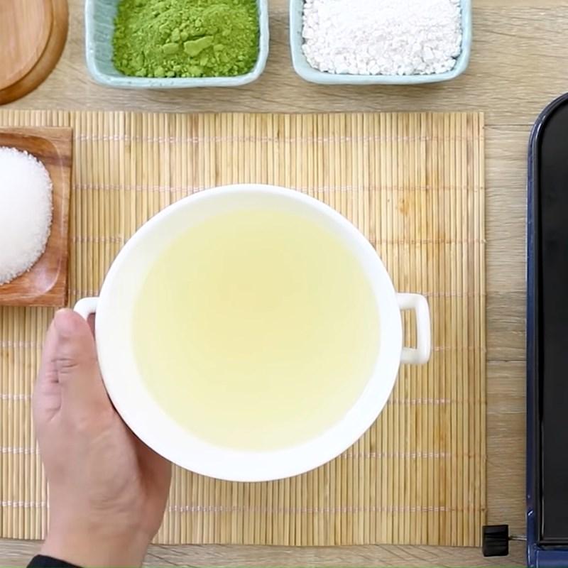 Bước 1 Nấu thạch trà xanh Bingsu Matcha trà xanh đậu đỏ