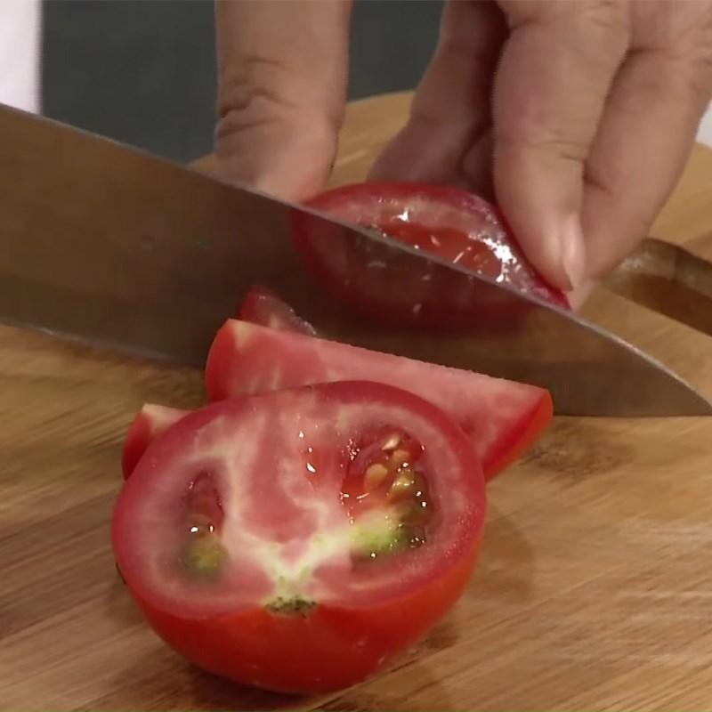 Bước 1 Sơ chế các loại rau củ Canh khoai tây cà chua thịt bò