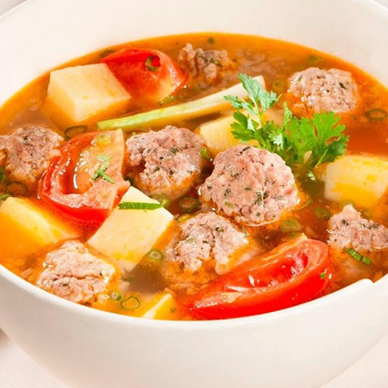 Bước 5 Thành phẩm Canh khoai tây cà chua thịt bò