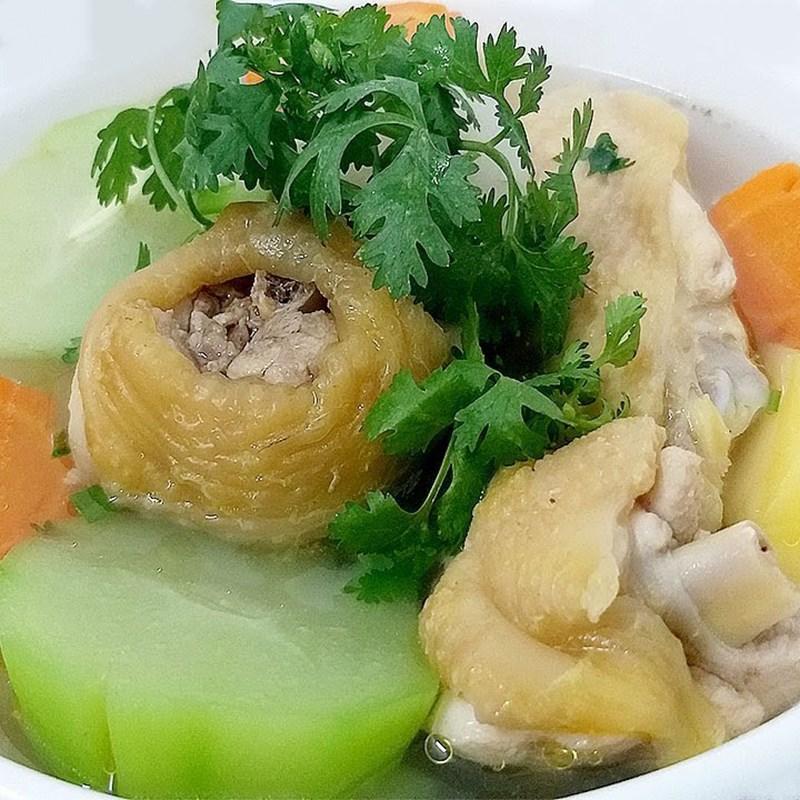 Bước 4 Thành phẩm Canh khoai tây rau củ thịt gà