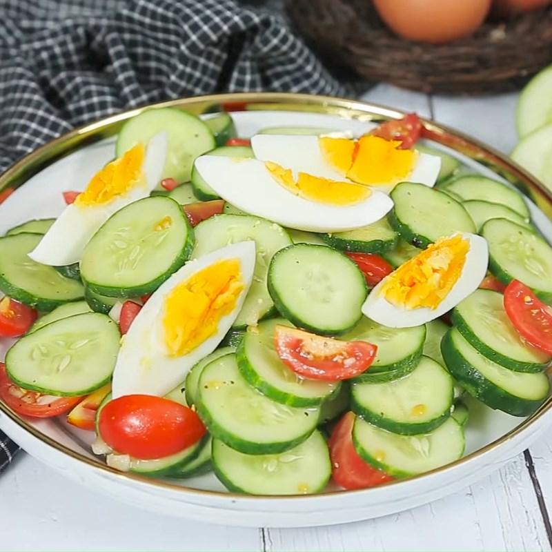 Bước 4 Thành phẩm Salad dưa chuột cà chua
