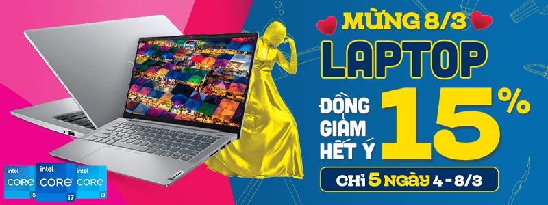 Sắm Laptop 8.3[break]Đồng Giảm 15%