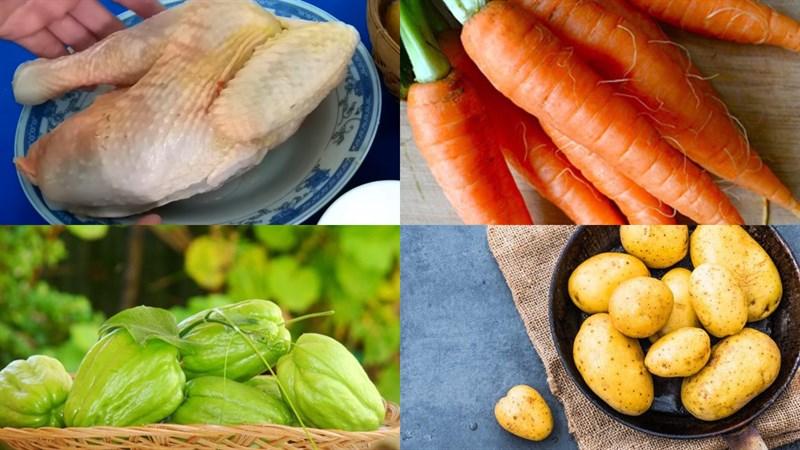 Nguyên liệu món ăn 3 cách nấu canh khoai tây đơn giản thơm ngon ai ăn cũng thích