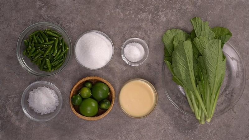 Nguyên liệu làm muối ớt xanh