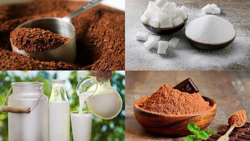Nguyên liệu món ăn cà phê mocha