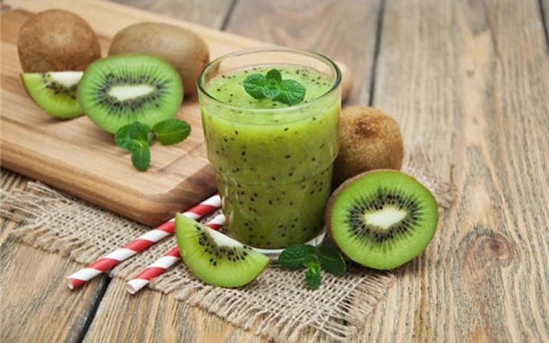 Hình Sinh tố kiwi sữa chua