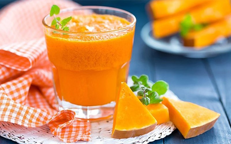 Hình Sinh tố cà rốt bí đỏ