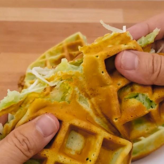Bánh kẹp sầu riêng, waffle sầu riêng