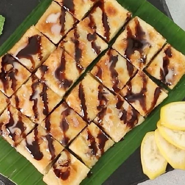 Bánh roti chuối Thái Lan