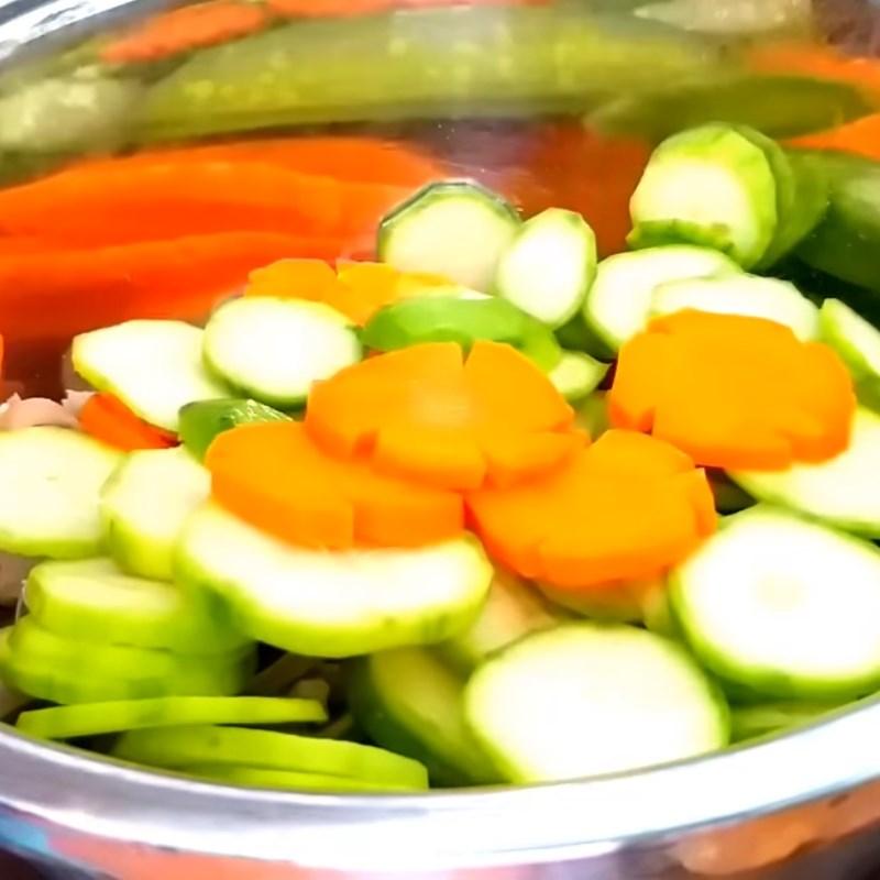 Bước 5 Trộn gỏi Gỏi cóc cà rốt tai heo