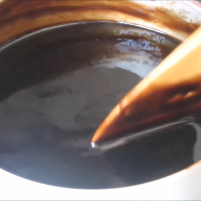 Bước 2 Nấu nước sương sáo Thạch sương sáo đen