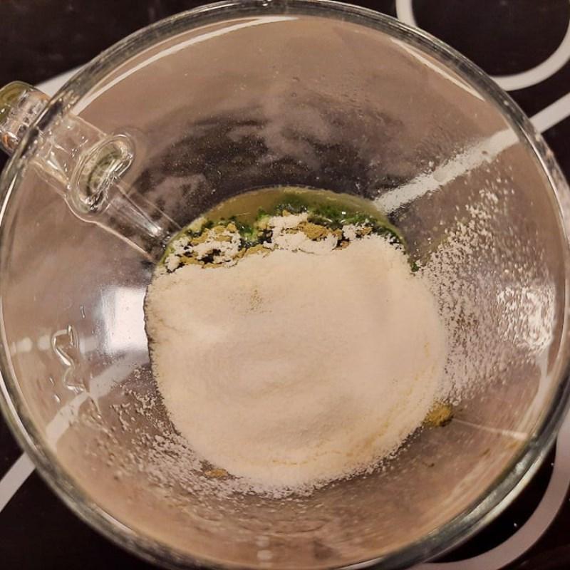Bước 2 Pha hỗn hợp bột với nước Trà sữa matcha