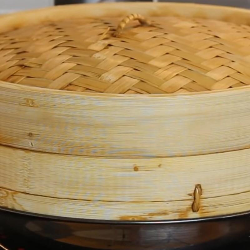 Bước 4 Hấp bánh Bánh bao nhân cadé