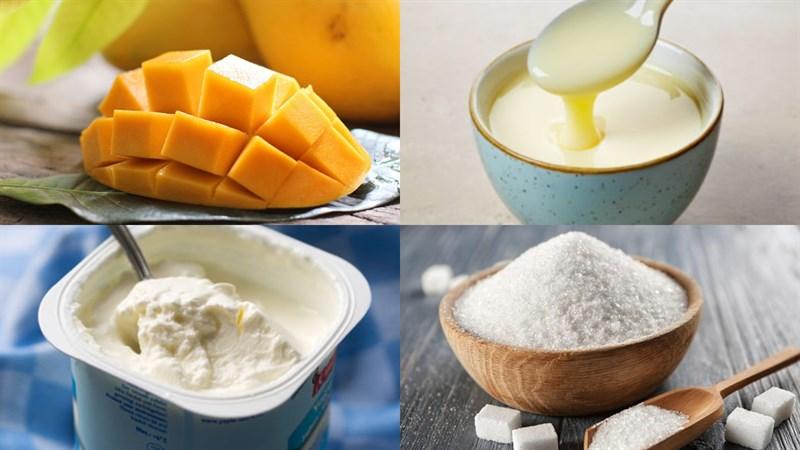 Nguyên liệu món ăn sinh tố xoài