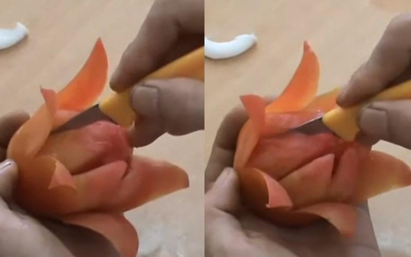 Cắt lớp cánh hoa thứ hai