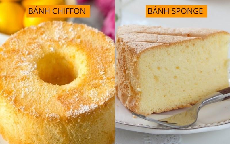 Sự khác biệt giữa bánh bông lan thông thường và bánh bông lan chiffon