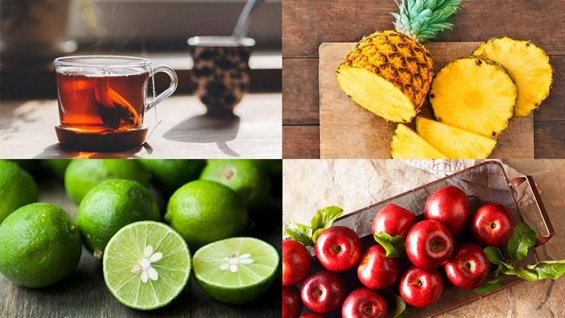 Nguyên liệu món ăn trà trái cây nhiệt đới