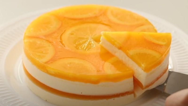 Bánh pho mát cam