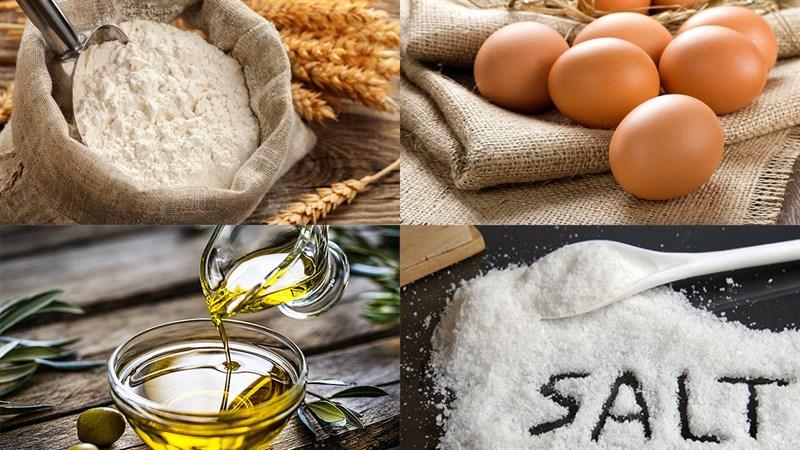 Nguyên liệu món ăn mì trứng tươi