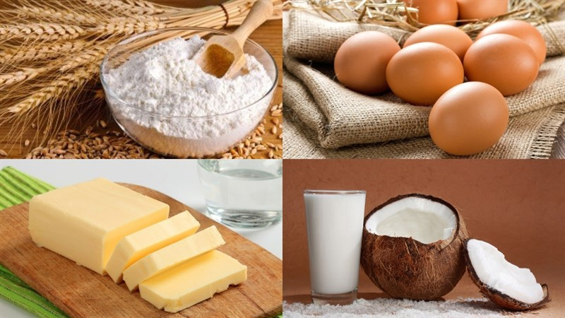 Nguyên liệu món ăn bánh bao nhân cadé