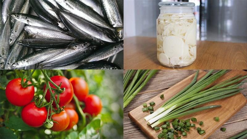 Nguyên liệu món ăn canh măng chua cá nục