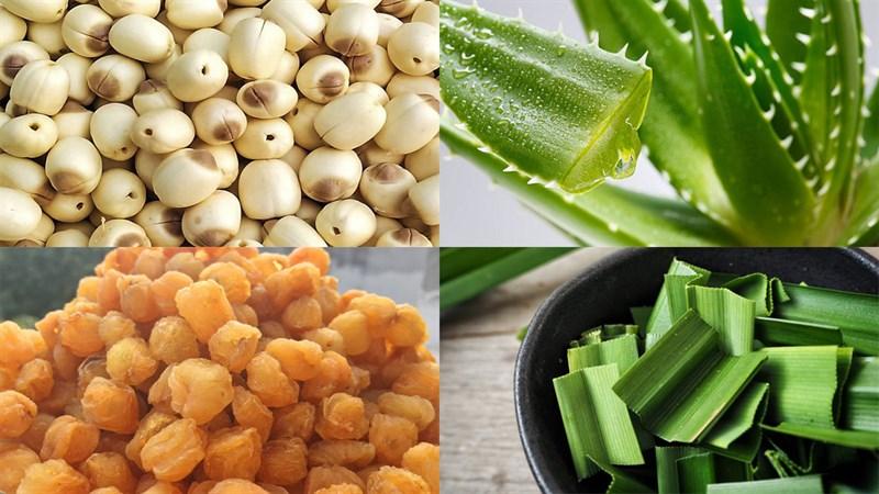 2 cách nấu chè hạt sen nha đam nhãn nhục và đậu xanh thanh mát