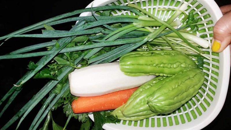 Nguyên liệu món ăn rau củ xào chay