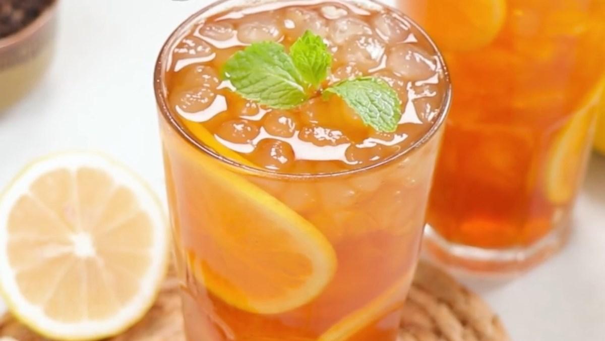 2 cách pha trà chanh hong kong và trà chanh hoa đậu biếc