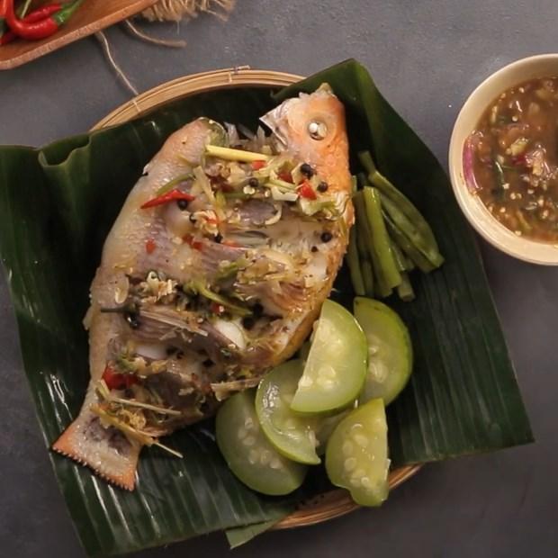 2 cách làm cá diêu hồng hấp kiểu thái và cá diêu hồng hấp ngũ liễu