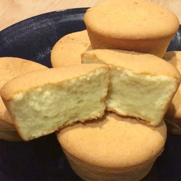 Bánh bông lan cupcake cốt dừa