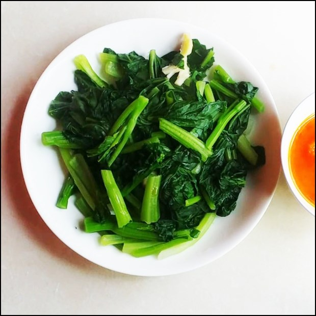 Cải ngồng luộc