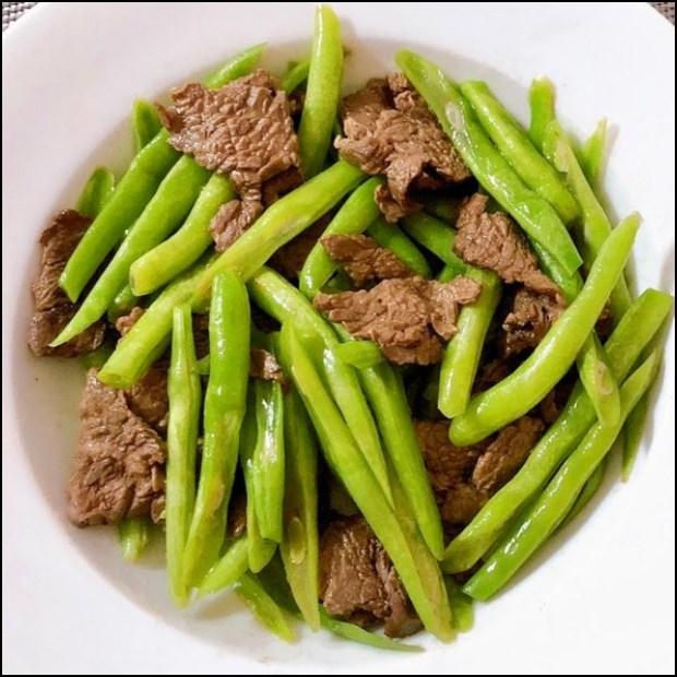 Đậu que (đậu cô ve) xào làm thịt bò