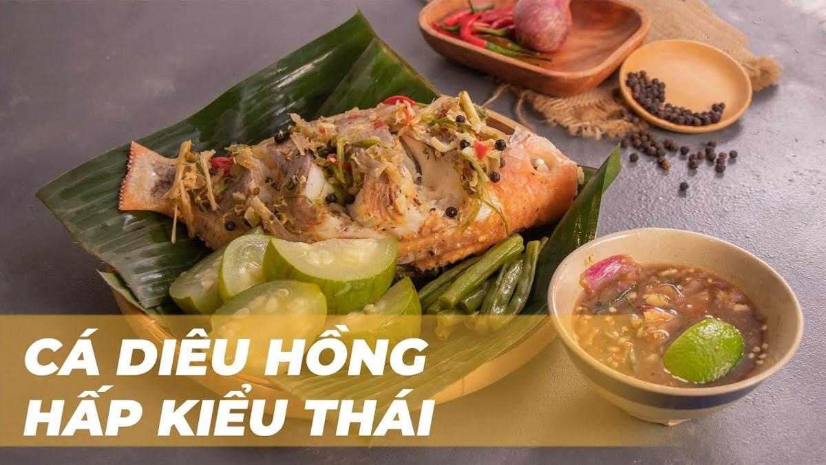 Cá diêu hồng hấp kiểu Thái
