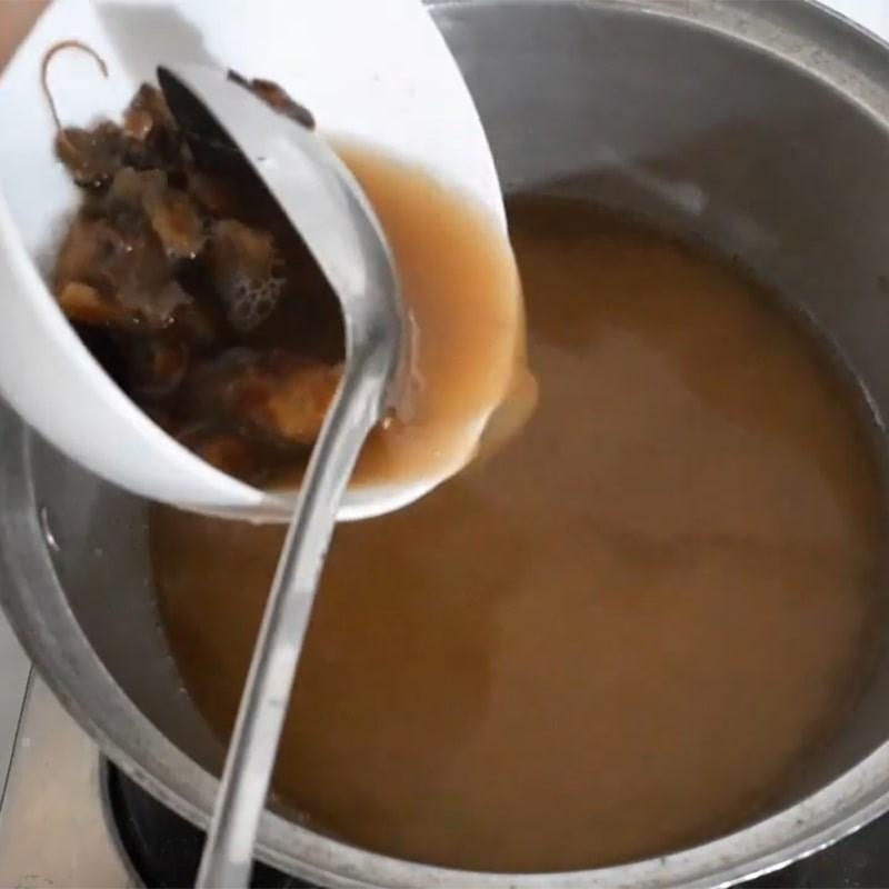 Bước 3 Nấu canh Khô cá lóc nấu canh chua