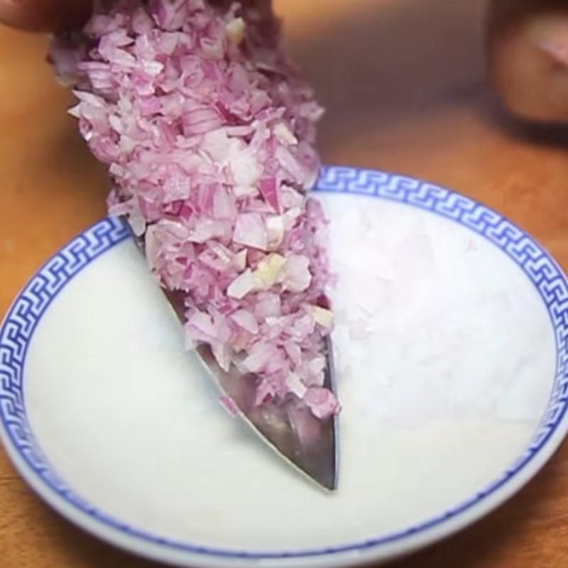 Bước 1 Sơ chế các loại rau củ Cá diêu hồng hấp tàu xì