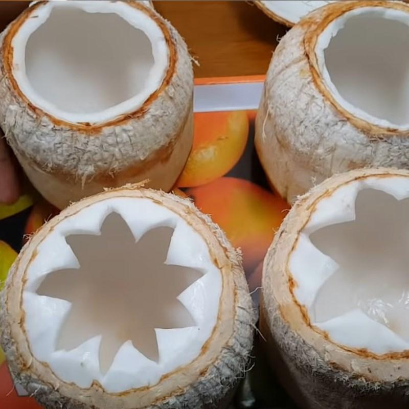 Bước 5 Đổ rau câu vào trái dừa Rau câu dừa